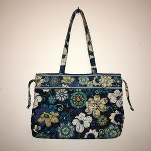 Vera Bradley Iconic Tote Bag in Mod Floral Blue